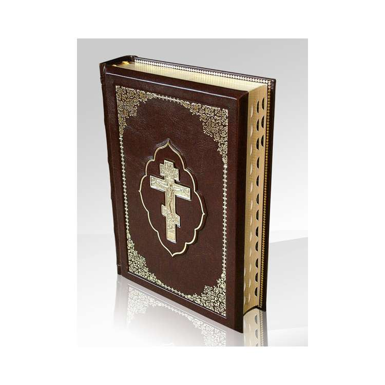 Библия подарочная в коже фото