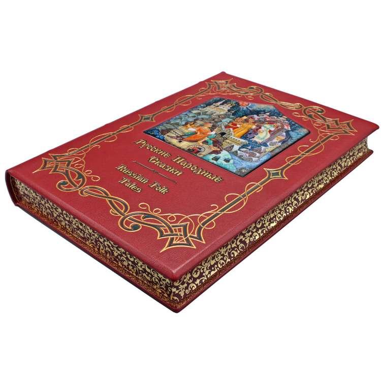Книга Русские народные сказки кожаный переплет фото 3
